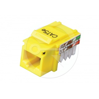 KJ458-C5E CAT5E Unshielded Keystone Jack, Universal Wiring T568A/B,Yellow