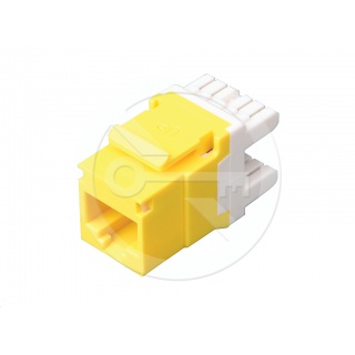 KJ458-C6-YE CAT6 Unshielded Keystone Jack, Universal Wiring T568A/B, Yellow