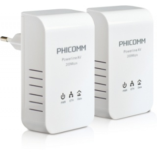 Phicomm FPA-201 - Phicomm :: FPA-201 200M Mini Powerline Adapter, Twin Pack (2 pcs)